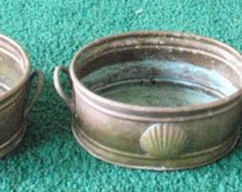 Vintage Brass shell decorated containers
