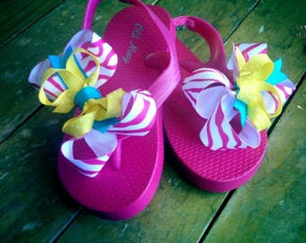 Girls Custom Bow Flip Flops