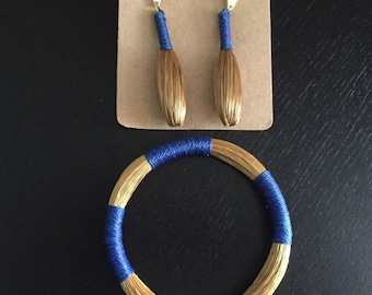 Blue Golden Grass set
