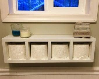 Toilet paper holder and shelf