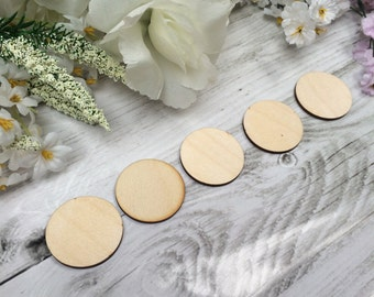 Wooden 3mm Thick Craft Shapes Pack of 10 - Circles