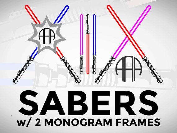 80  off sale svg light sword sabers circle monogram frame