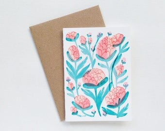 Floral Small Greeting Card
