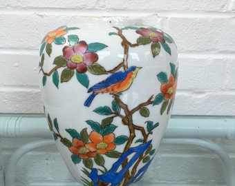 Hand Painted Chinoiserie Vase
