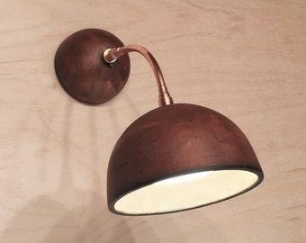 Ceramic wall lamp (diameter 12cm)
