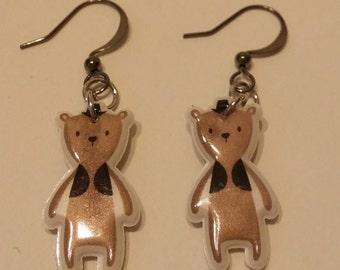 Cute teddy bear earrings