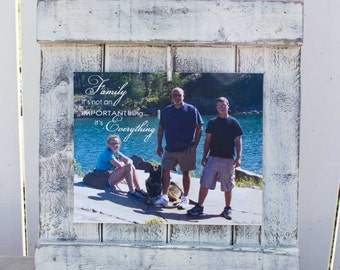 Shabby Picket Picture Frame