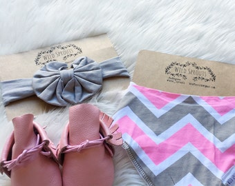 Pink and grey set
