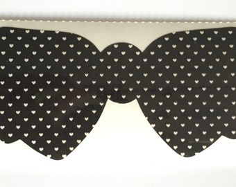 Vintage Black Polkadot Bow
