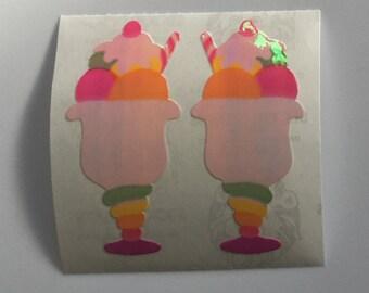 Vintage Pearl Ice Cream Sundae Stickers