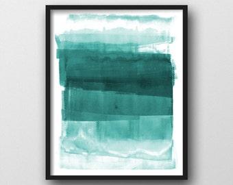 Abstract Art Print, Giclee Print, Scandinavian Design, Coastal Colors, Abstract Painting, Minimalist Art, Turquoise/Aqua, Best Selling Item