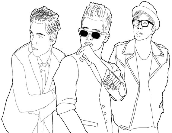 Holy Emo Trinity Coloring page