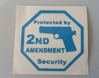 GUN OWNERS Second 2nd Amendment Vinyl Yeti Decal Sticker .. Free Shipping .. Car Windows Homes Laptop Motorcycles Valuables Beer Mug