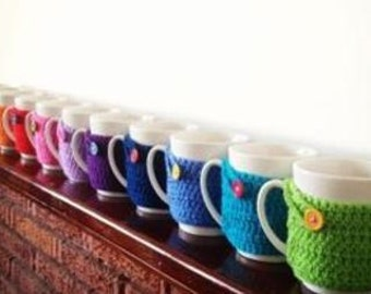 Crochet Mug Hug/Cozie 100% Cotton Eco Friendly