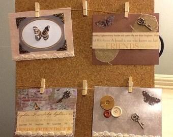 Set of four handmade cards