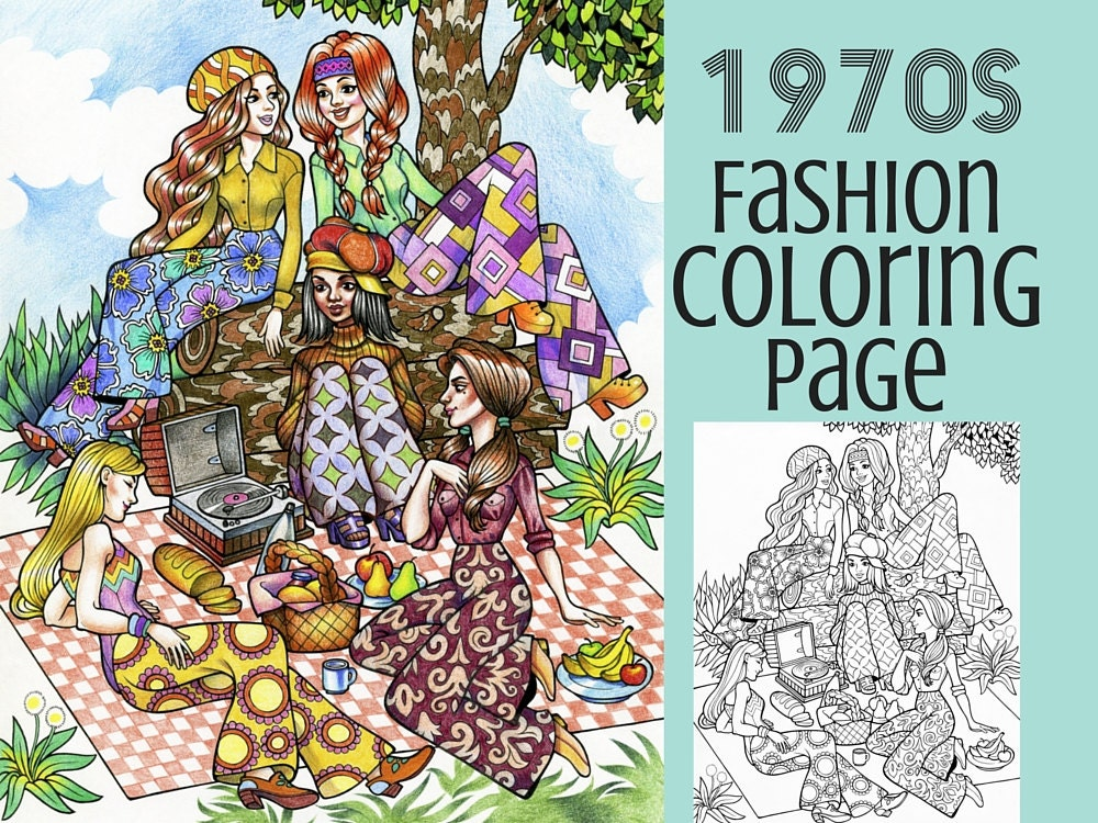 seventies fashion coloring pages - photo#29