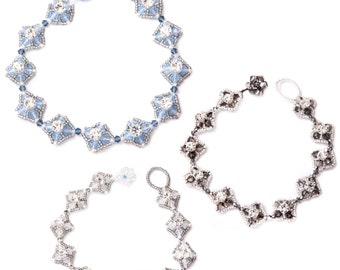 Jewellery Craft Making Kit / The Kleshna SWAROVSKI crystal Roaring 20's Bracelet Kit