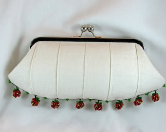 Strawberries and Cream Clutch