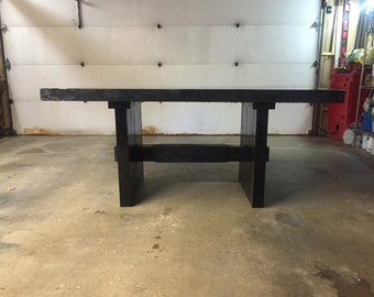 Rustic and Modern Reclaimed Dining Table