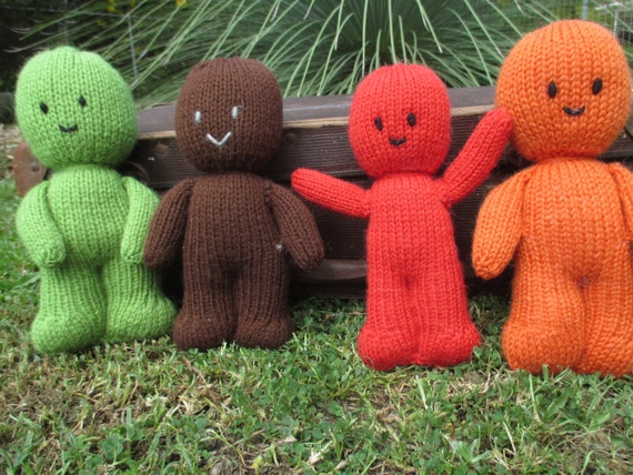 Knitting Pattern For Jelly Babies : Items similar to Hand Knitted Jelly Babies on Etsy
