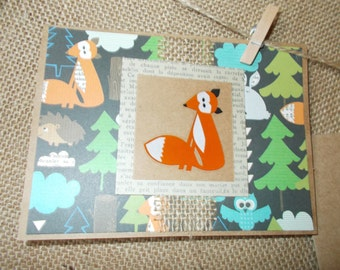 Woodland Creatures- fox- greeting cards