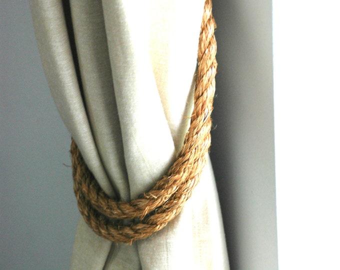 Manila Rope Tiebacks Andrea Cook Interiors