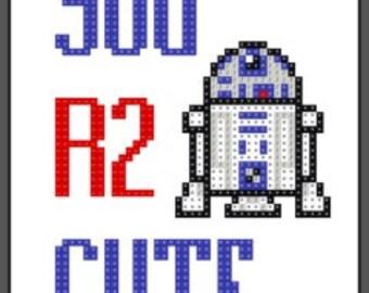 You R2 Cute  cross stitch pattern
