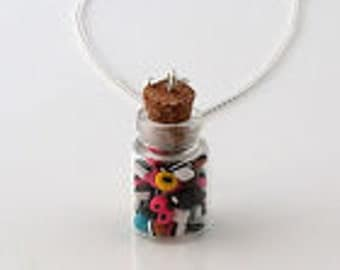 Licorice allsorts necklace handmade miniature kawaii mini cute funky candy sweets retro