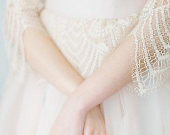 Wedding dress//Vesta//Lace wedding dress//Blush wedding dress//Rustic wedding dress