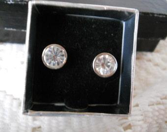 Vintage Rhinestone Earrings By Nolan Miller #262