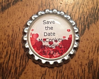 Set of 15 Personalized Custom Made Save the Date Wedding Magnets - Save The Dates - Unique Save The Dates - Save The Date Magnets