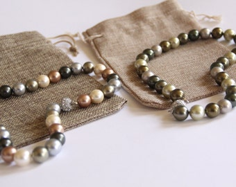 Mother-of-Pearl Small Bead Necklace
