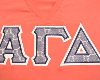 AGD Sorority Greek Shirt - In Knots Design