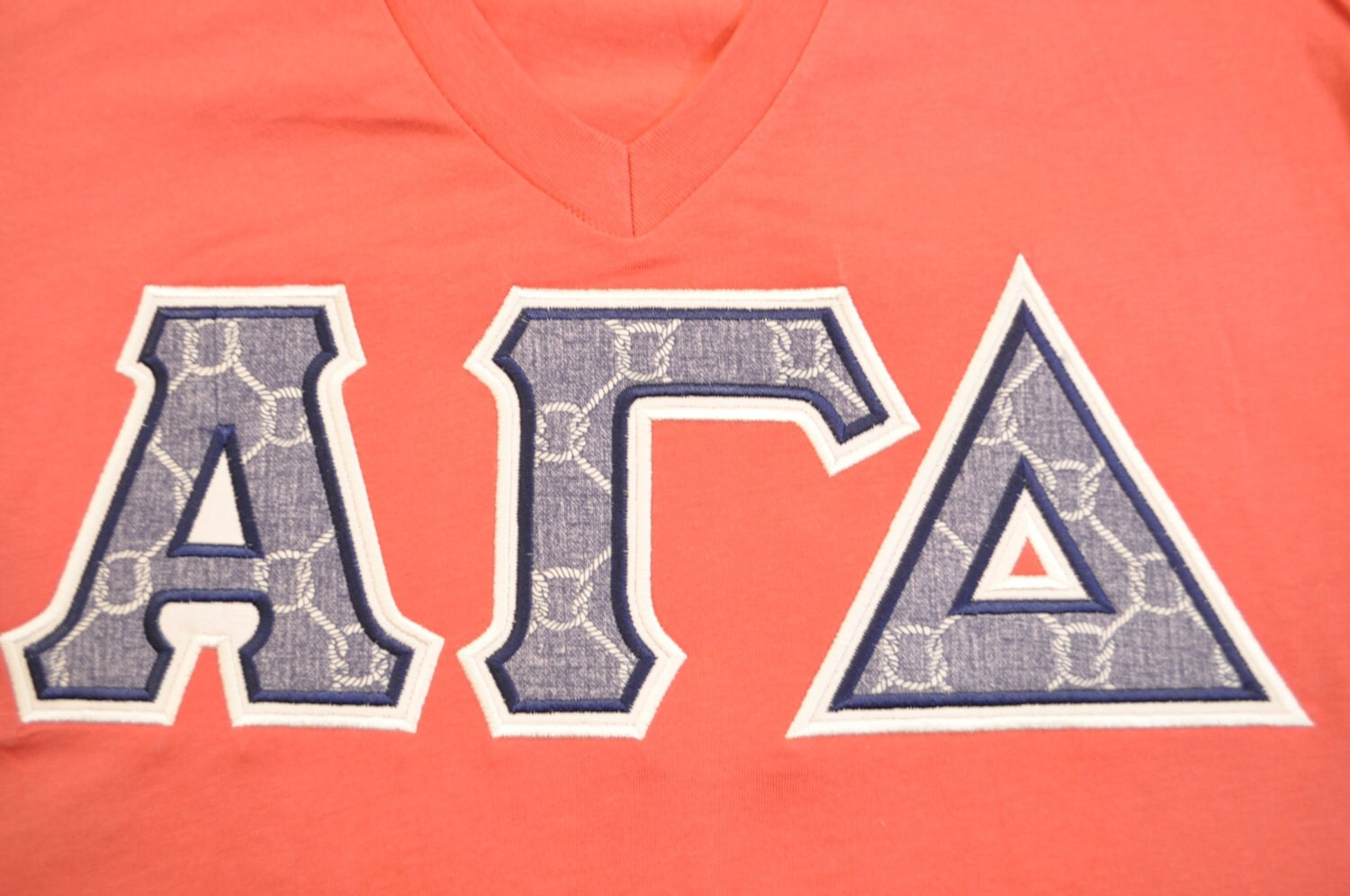 greek letter shirts alpha gamma delta sorority stitched lettered shirt size 22043 | il fullxfull.925497785 grkz