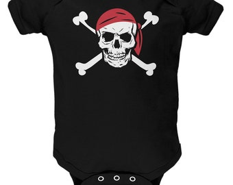 Jolly Roger Pirate Costume Baby One Piece
