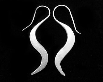 Hill Tribe Lazy S Thai Silver Earrings