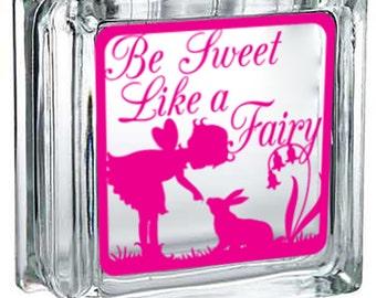 Be Sweet! Lighted Fairy Glass Block Decor
