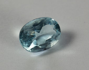 Natural Pale Blue Topaz, Oval Mixed Cut, 1.70ct
