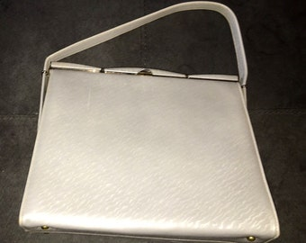 Vtg 1950s 1960s Textured Grey Andrew Geller Purse