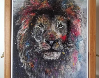 Lion Artwork Print