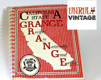"1970s Vintage California Cookbook ""Californa State Grange Recipes"""