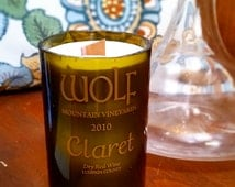 Wine Bottle Candle - Wolf Mountain Vineyards and Winery - Claret