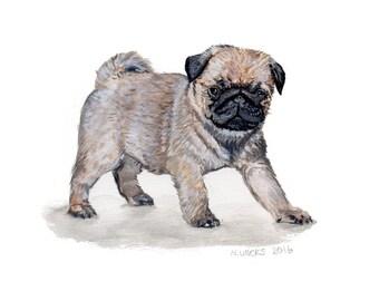 Original Pug Painting