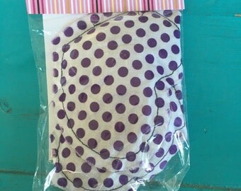 Reusable Hot/Cold Packs - Peppermint scent; purple, polka dot, heart, heating pad, hot pack, cold pad, cold pack, therapy, spa, relaxing