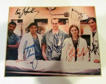 ER CAST QUINTET_ clooney, edwards, lasalle, wyle, stringfield – 5 signed