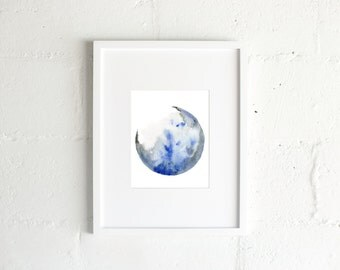 The Moon Walk Watercolor Print