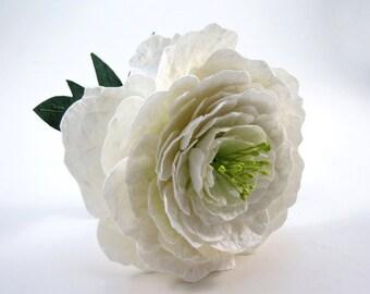 Peony - Single Stem Paper Flower - Paper Peony