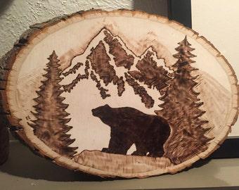 Bear Wood Burning Etsy