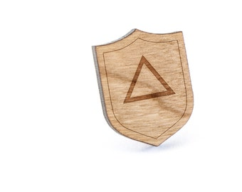 Equilateral Triangle Lapel Pin, Wooden Pin, Wooden Lapel, Gift For Him or Her, Wedding Gifts, Groomsman Gifts, and Personalized