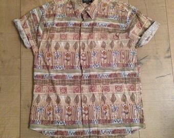 SALE - MENS | Vintage spring leaf shirt | Size L - SALE